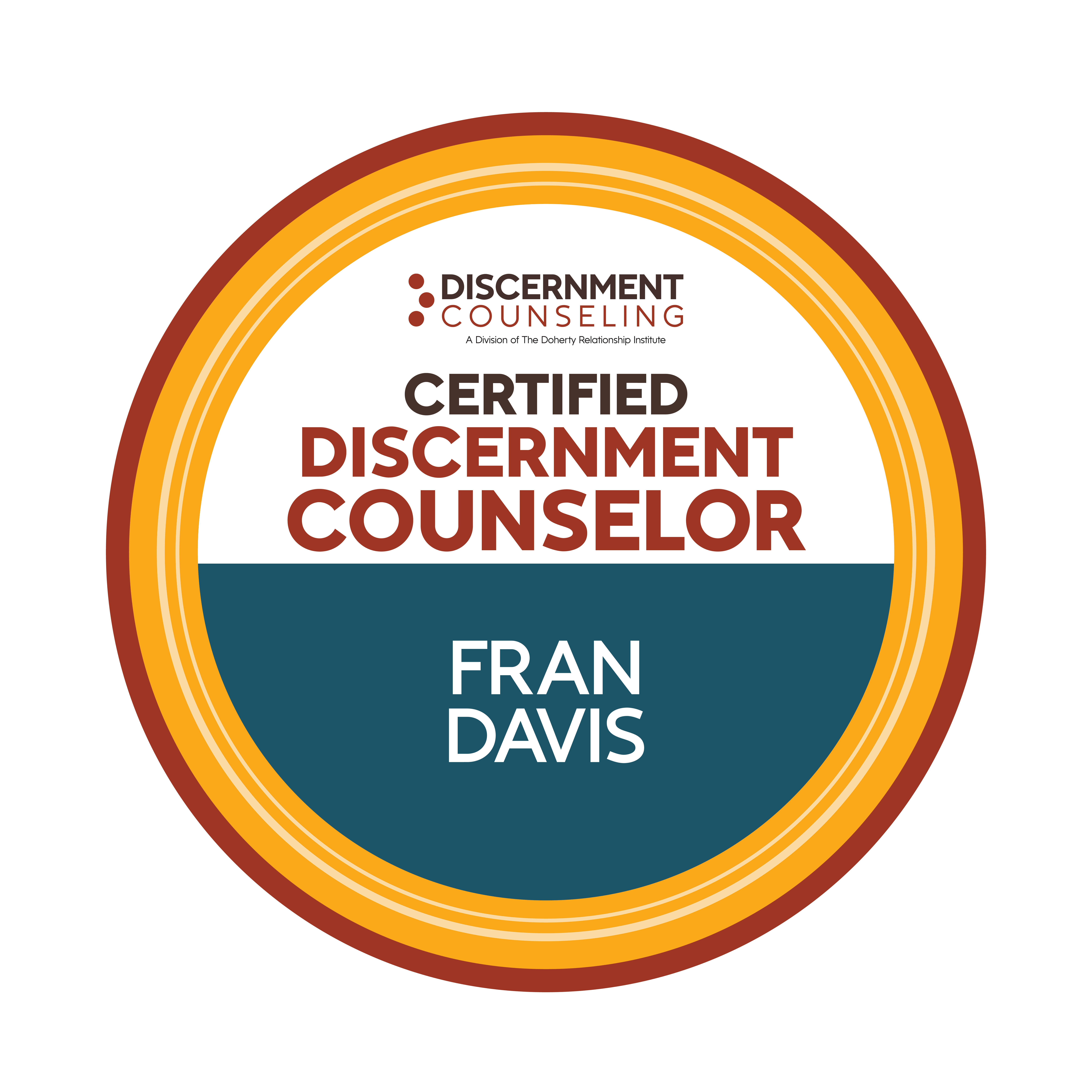 certified Discernment Counselor badge